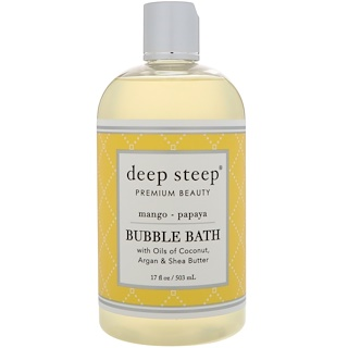 Deep Steep, Bubble Bath, Mango - Papaya, 17 fl oz (503 ml)