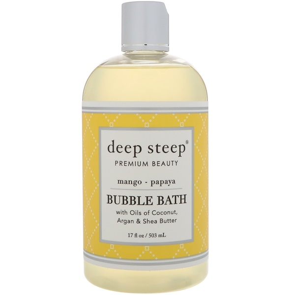 Deep Steep, Bubble Bath, Mango - Papaya, 17 fl oz (503 ml) (Discontinued Item)