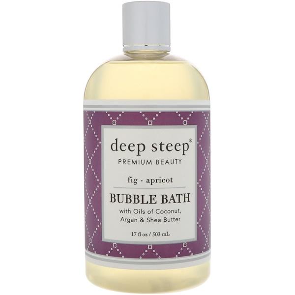 Deep Steep, Bubble Bath, Fig - Apricot, 17 fl oz (503 ml) (Discontinued Item)