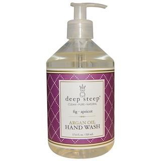 Deep Steep, Argan Oil Liquid Hand Wash, Fig Apricot, 17.6 fl oz (520 ml)