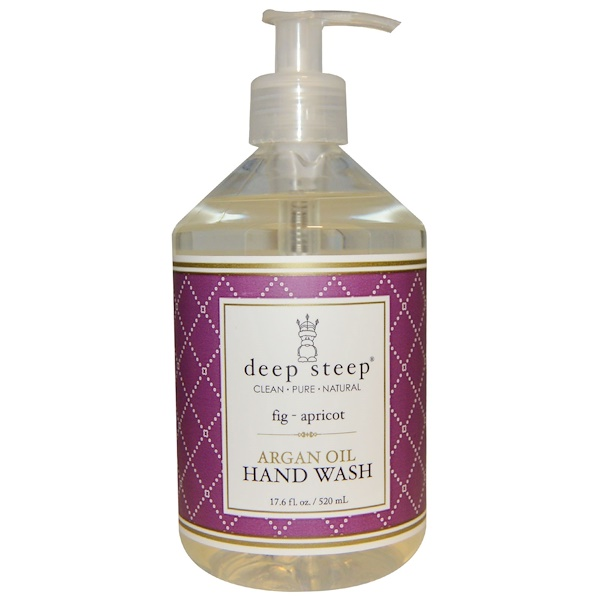 Deep Steep, Argan Oil Liquid Hand Wash, Fig Apricot, 17、6 fl oz (520 ml)
