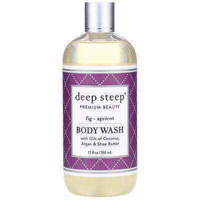 Deep Steep Body Wash, Fig - Apricot, 17 fl oz (503 ml)