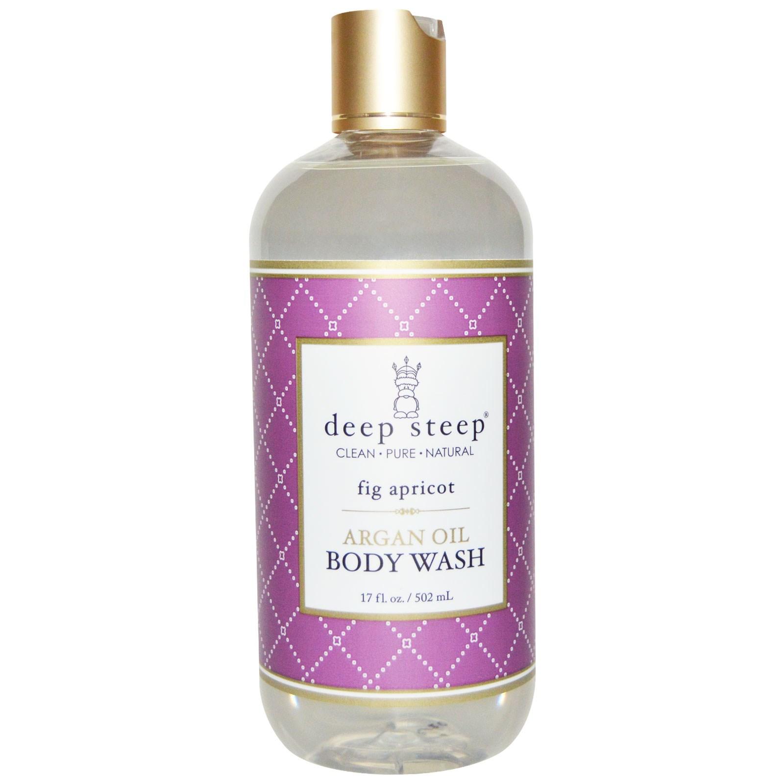 Deep Steep, Средство для мытья тела с аргановым маслом, инжир и абрикос, 17 жидк. унц. (502 мл)