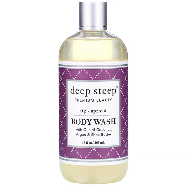 Deep Steep, Body Wash, Fig - Apricot, 17 fl oz (503 ml)