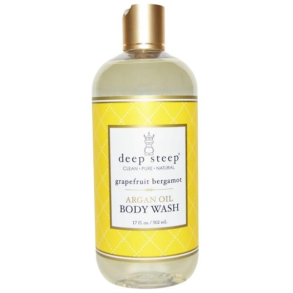 Deep Steep, Argan Oil Body Wash, Grapefruit Bergamot, 17 fl oz (502 ml) (Discontinued Item)