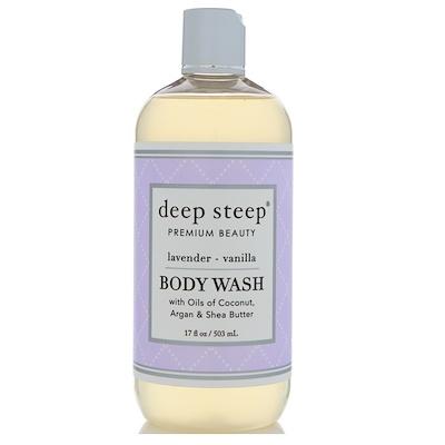 Deep Steep Гель для душа, лаванда и ваниль, 503 мл