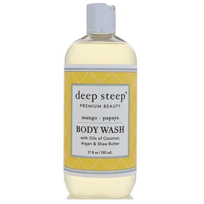 Deep Steep Гель для душа, манго и папайя, 17 ж. унц. (503 мл)