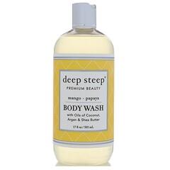 Deep Steep, 沐浴露,芒果木瓜,17液體盎司(503毫升)
