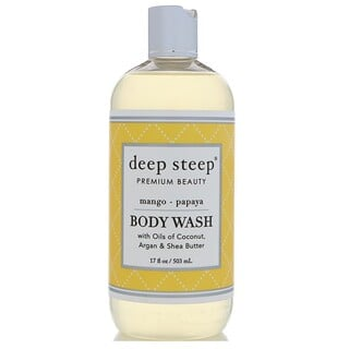 Deep Steep, Body Wash, Mango Papaya, 17 fl oz (503 ml)