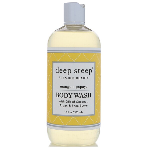 Gel para baño, mango y papaya, 17 fl. Oz (503 ml)