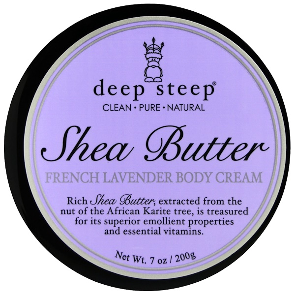 Deep Steep, Shea Butter Body Cream, French Lavender, 7 oz (200 g) (Discontinued Item)