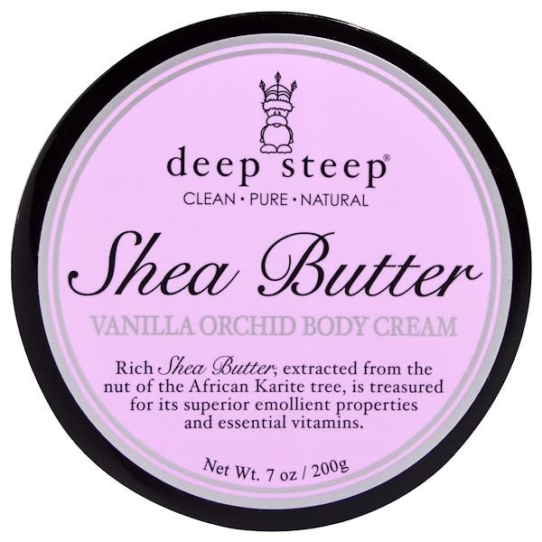 Deep Steep, Shea Butter Vanilla Orchid Body Cream, 7 oz (200 g) (Discontinued Item)