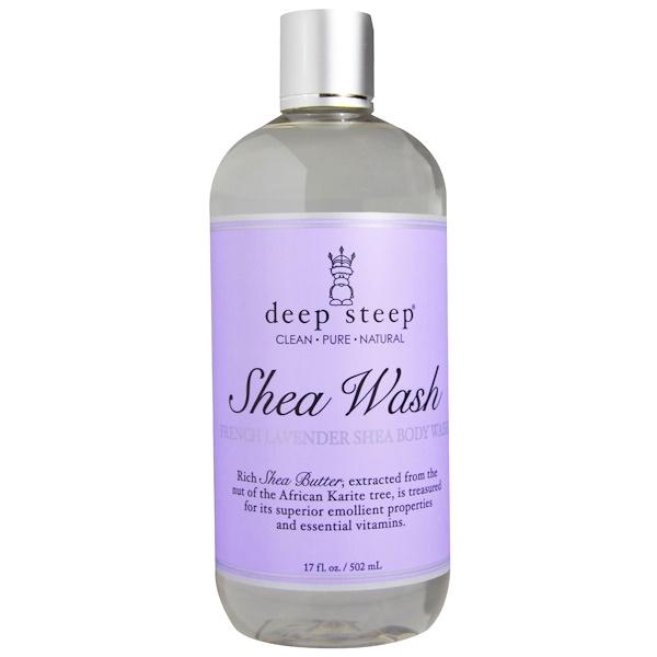 Deep Steep, Shea Wash, French Lavender Shea Body Wash, 17 fl oz (502 ml) (Discontinued Item)