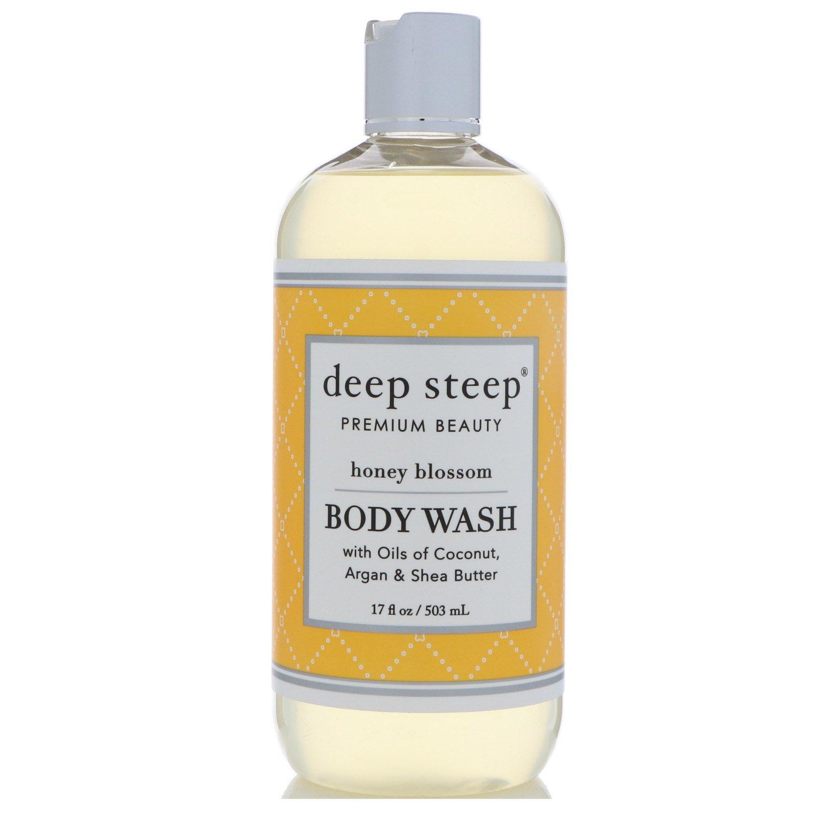 Deep Steep, Body Wash, Honey Blossom, 17 fl oz (503 ml)