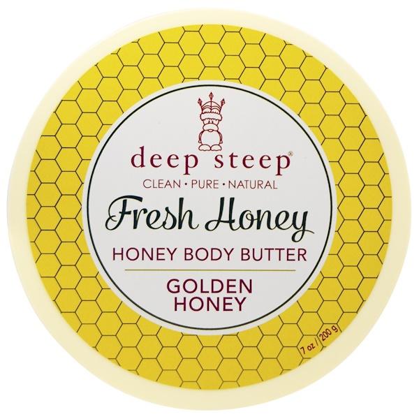 Deep Steep, Fresh Honey Body Butter, Golden Honey, 7 oz (200 g) (Discontinued Item)