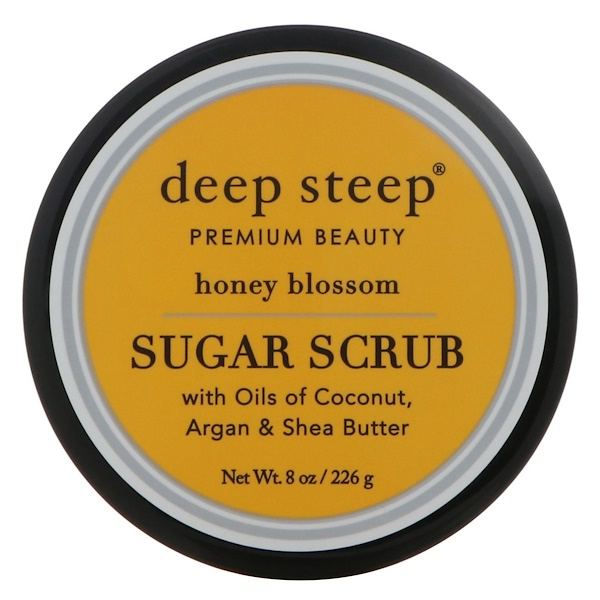 Deep Steep, Sugar Scrub, Honey Blossom, 8 oz (226 g) (Discontinued Item)