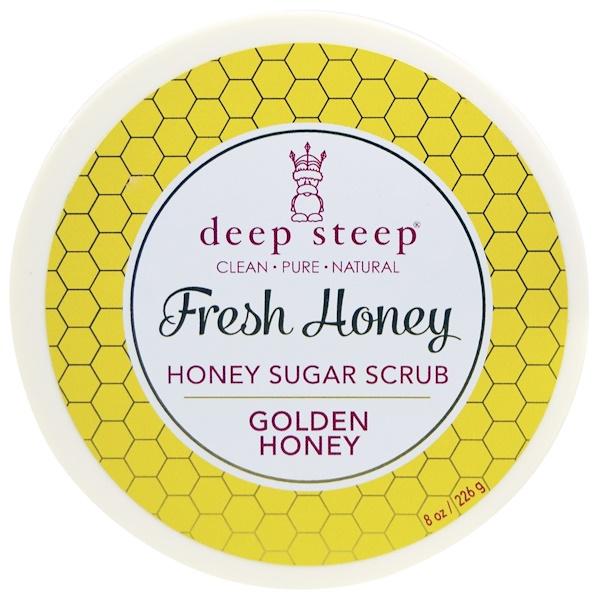 Deep Steep, Fresh Honey Sugar Scrub, Golden Honey, 8 oz (226 g) (Discontinued Item)