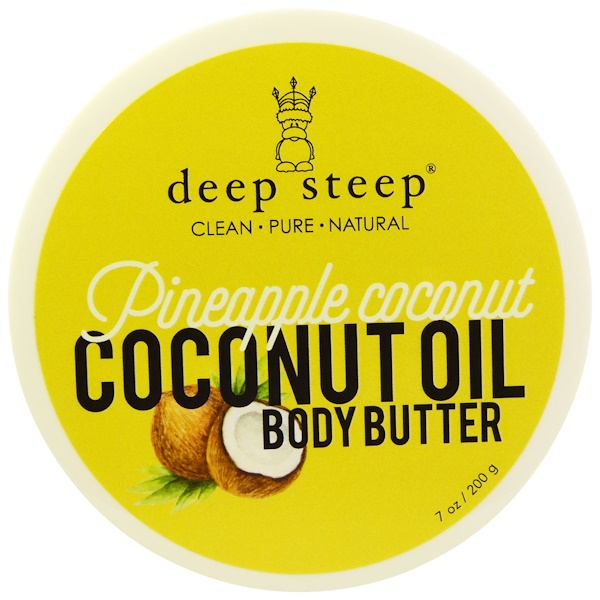 Deep Steep, Coconut Oil Body Butter, Pineapple Coconut, 7 oz (200 g) (Discontinued Item)