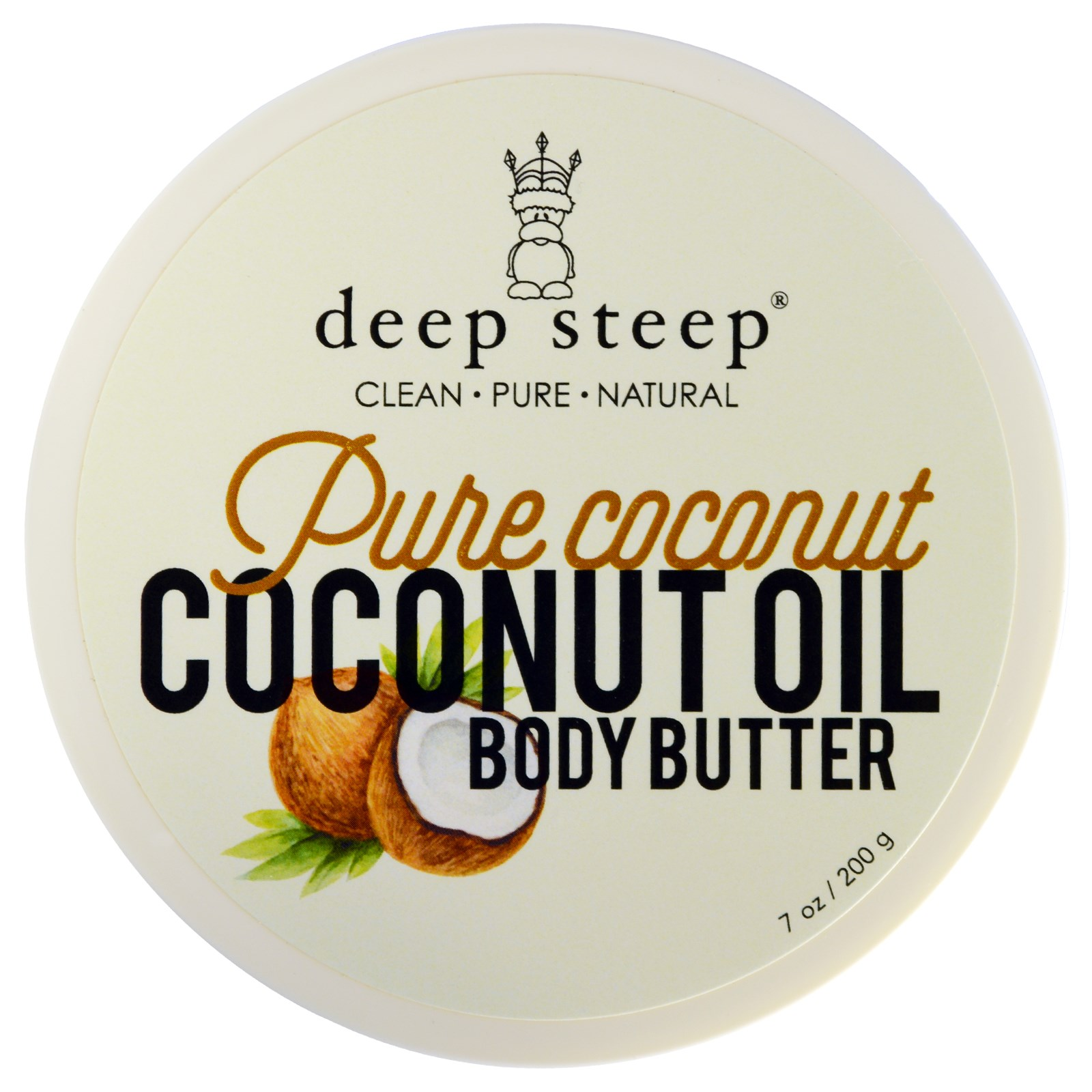deep steep pure coconut coconut oil body butter 7 oz 200 g