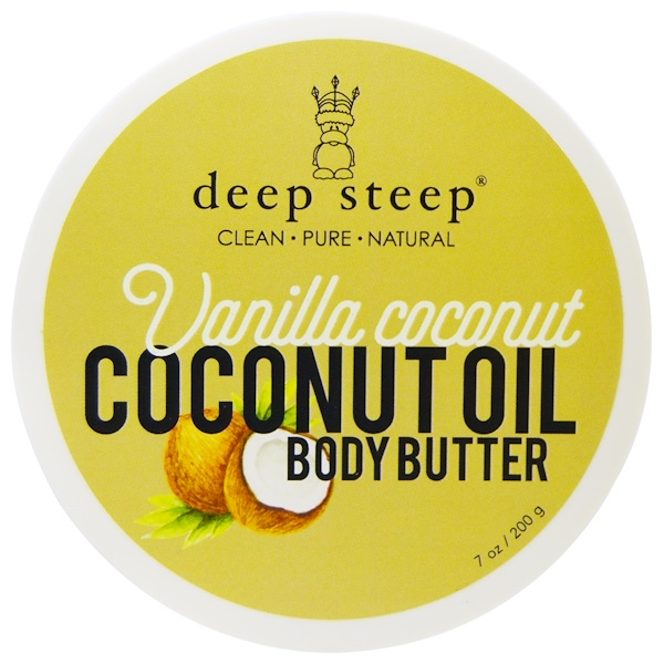 Deep Steep, Coconut Oil Body Butter, Vanilla Coconut, 7 oz (200 g) (Discontinued Item)