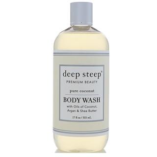 Deep Steep, Body Wash, Pure Coconut, 17 fl oz (503 ml)
