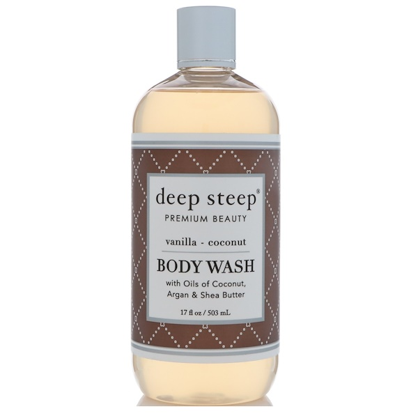 Deep Steep, Body Wash, Vanilla - Coconut, 17 fl oz (503 ml)