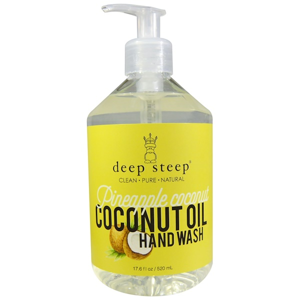 Deep Steep, Coconut Oil Hand Wash, Pineapple Coconut, 17.6 fl oz (520 ml) (Discontinued Item)