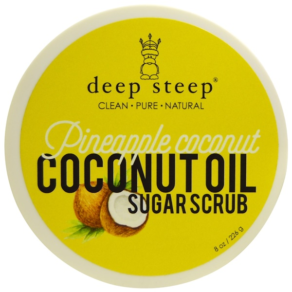 Deep Steep, Coconut Oil Sugar Scrub, Pineapple Coconut, 8 oz (226 g) (Discontinued Item)