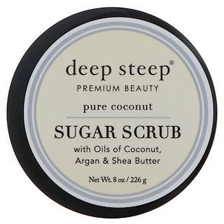 Deep Steep, Sugar Scrub, Pure Coconut, 8 oz (226 g)