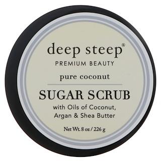 Deep Steep, Sugar Scrub, Pure Coconut, 8 oz (226 g)