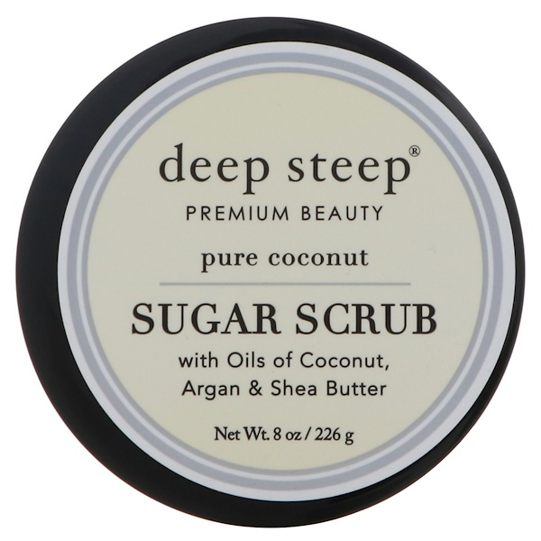 Deep Steep, Sugar Scrub, Pure Coconut, 8 oz (226 g) (Discontinued Item)