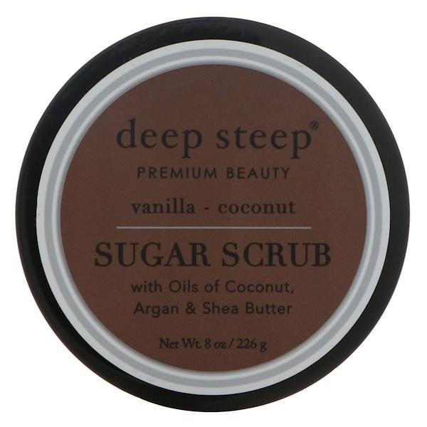 Deep Steep, Sugar Scrub, Vanilla - Coconut, 8 oz (226 g) (Discontinued Item)