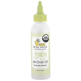 Deep Steep, Organic Baby All-Over Oil, Lavender Blossom, 4 fl oz (118 ml)