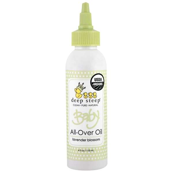 Deep Steep, Organic Baby All-Over Oil, Lavender Blossom, 4 fl oz (118 ml) (Discontinued Item)