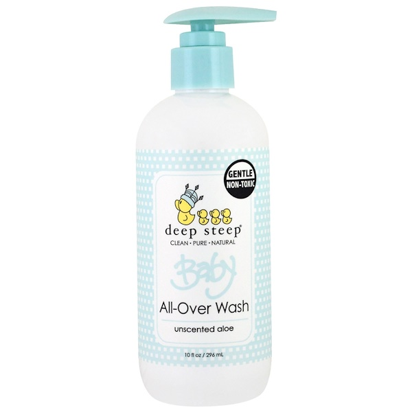 Deep Steep, Baby All-Over Wash, Unscented Aloe, 10 fl oz (296 ml) (Discontinued Item)