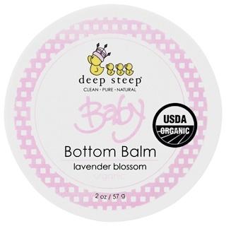 Deep Steep, Balm para Assaduras de Bebês Orgânico, Flor de Lavanda, 2 oz (57 g)