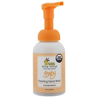 Deep Steep, Organic, Baby Foaming Hand Wash, Lavender Blossom, 8 fl oz (237 ml)