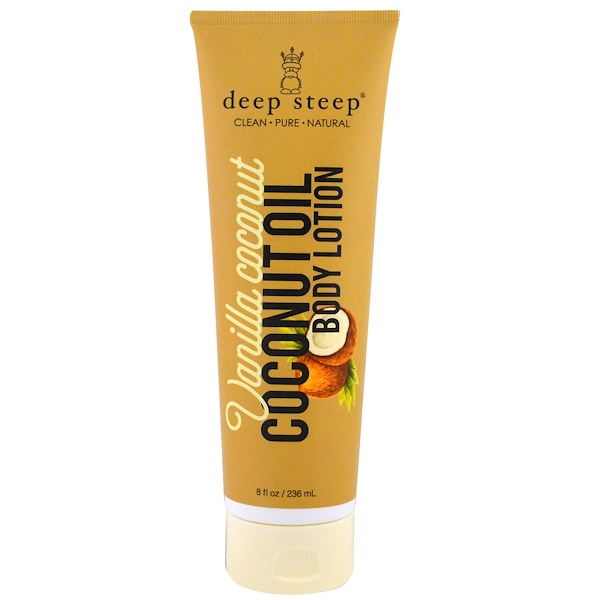 Deep Steep, Coconut Oil Body Lotion, Vanilla Coconut, 8 fl oz (236 ml) (Discontinued Item)