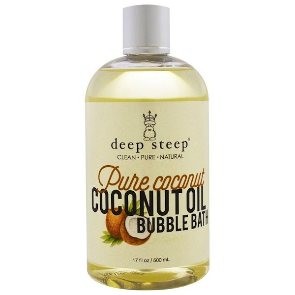 Deep Steep, Coconut Oil Bubble Bath, Pure Coconut, 17 fl oz (500 ml) (Discontinued Item)