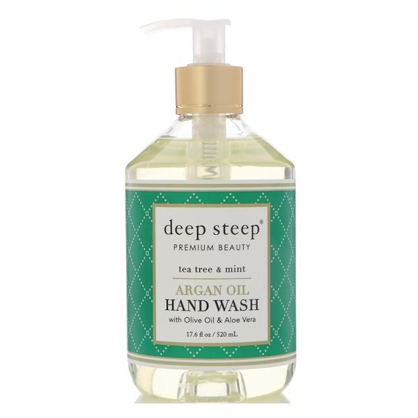 Deep Steep, Argan Oil Hand Wash, Tea Tree & Mint, 17.6 fl oz (520 ml)