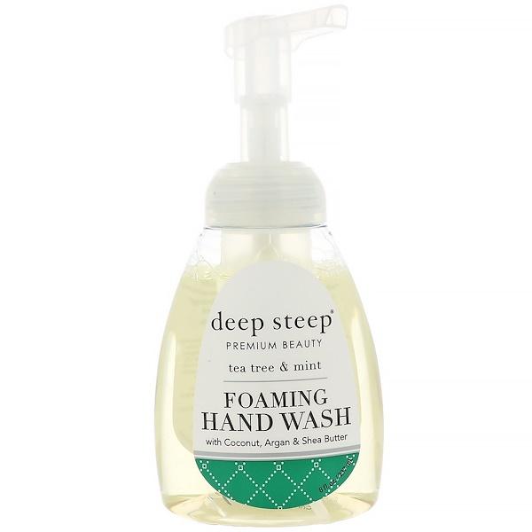 Deep Steep, 泡沫洗手液,茶樹和薄荷,8液量盎司(237毫升)
