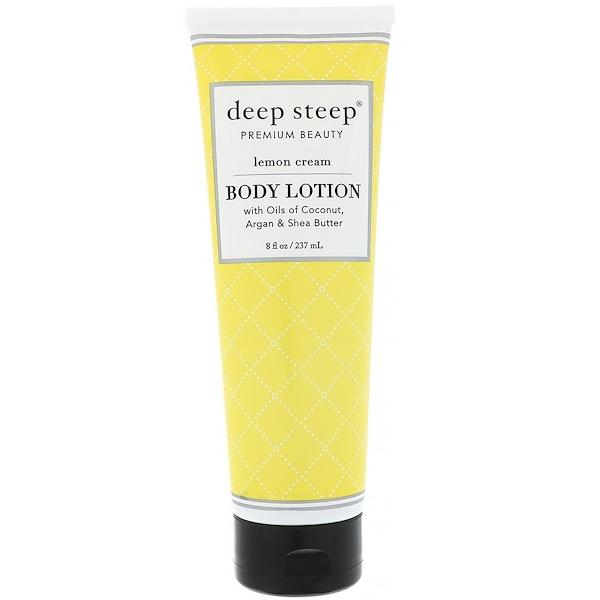 Deep Steep, Body Lotion, Lemon Cream, 8 fl oz (236 ml) (Discontinued Item)