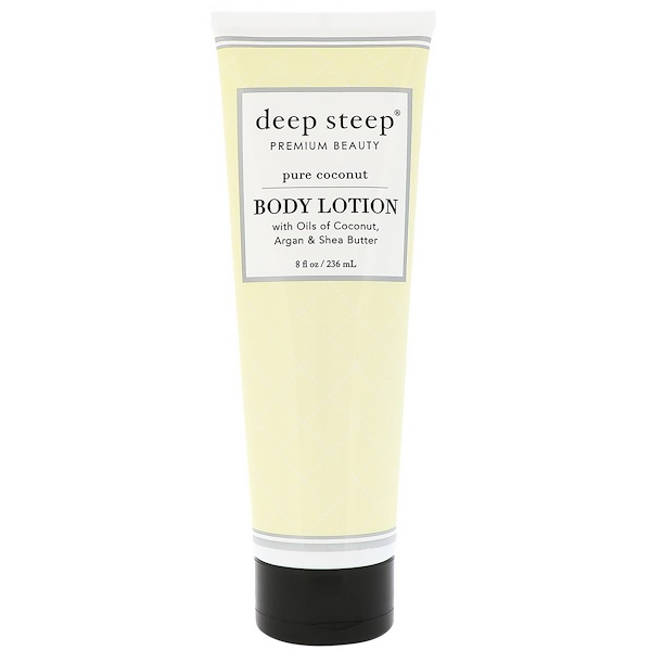 Deep Steep, Body Lotion, Pure Coconut, 8 fl oz (236 ml) (Discontinued Item)