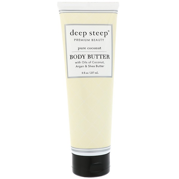Deep Steep, Body Butter, Pure Coconut, 8 fl oz (237 ml) (Discontinued Item)