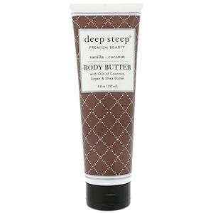 Дип Стип, Body Butter, Vanilla Coconut, 8 fl oz (237 ml) отзывы