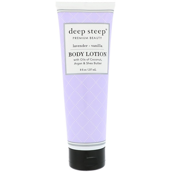 Deep Steep, Body Lotion, Lavender Vanilla, 8 fl oz (237 ml)