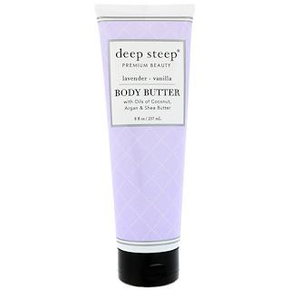 Deep Steep, Body Butter, Lavender Vanilla, 8 fl oz (237 ml)