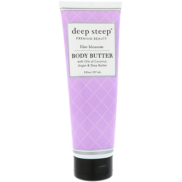 Deep Steep, 身體乳,丁香花,8盎司(237毫升)