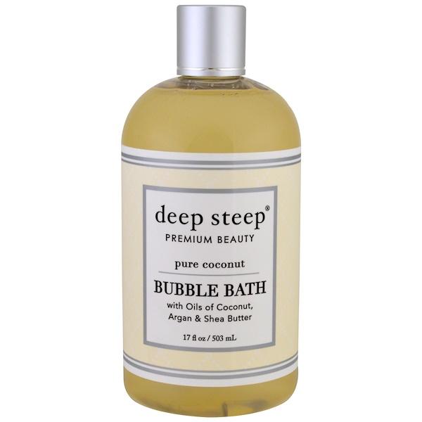 Deep Steep, 泡泡浴,純椰子,17液盎司(503毫升)