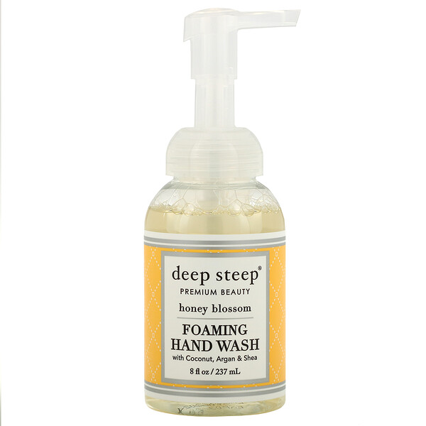 Deep Steep, Foaming Hand Wash, Honey Blossom, 8 fl oz (237 ml) (Discontinued Item)